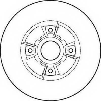 Тормозной диск JURID 561968JC - изображение