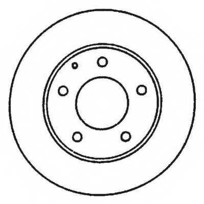 Тормозной диск JURID 561969JC - изображение