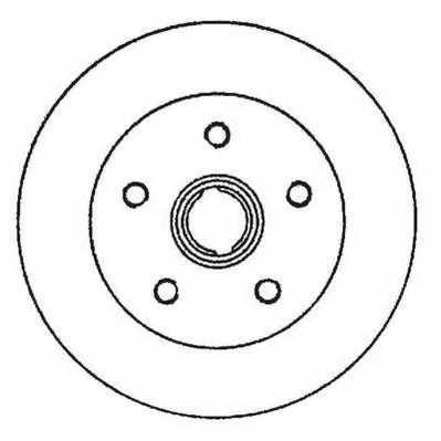 Тормозной диск JURID 561982JC - изображение