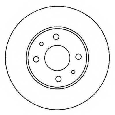 Тормозной диск JURID 562024JC - изображение