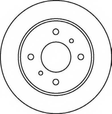 Тормозной диск JURID 562032JC - изображение
