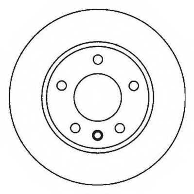 Тормозной диск JURID 562035JC - изображение