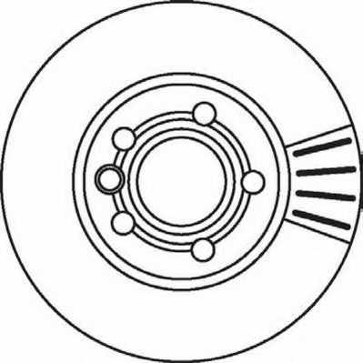 Тормозной диск JURID 562043JC - изображение