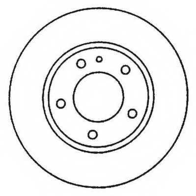 Тормозной диск JURID 562048JC - изображение