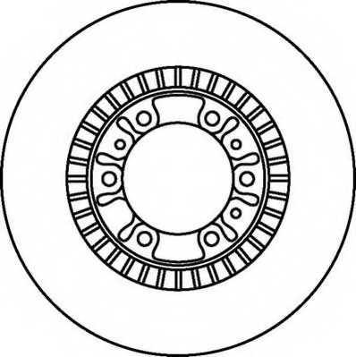 Тормозной диск JURID 562067JC - изображение