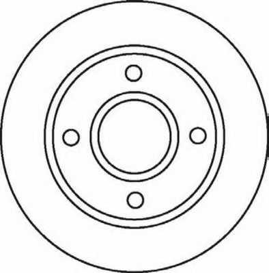 Тормозной диск JURID 562078JC - изображение