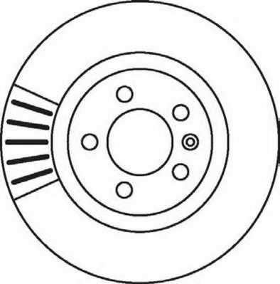 Тормозной диск JURID 562080JC - изображение