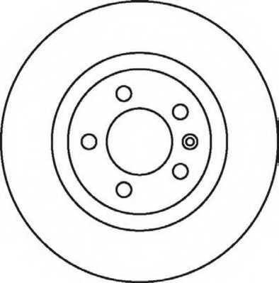 Тормозной диск JURID 562081JC - изображение
