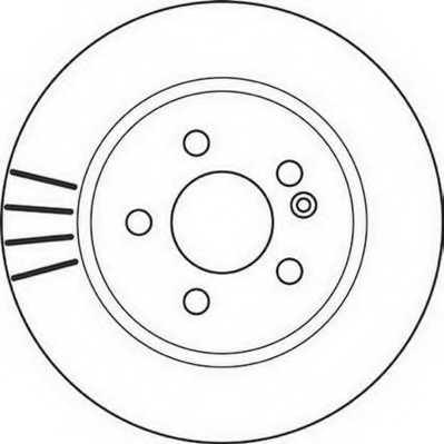 Тормозной диск JURID 562099JC - изображение