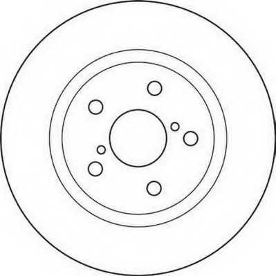 Тормозной диск JURID 562119JC - изображение