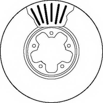 Тормозной диск JURID 562141JC - изображение