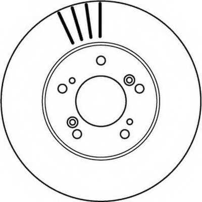 Тормозной диск JURID 562143JC - изображение