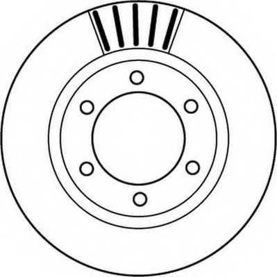 Тормозной диск JURID 562168JC - изображение