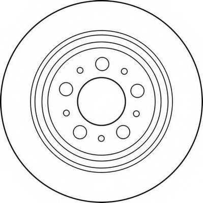 Тормозной диск JURID 562174JC - изображение