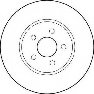 Тормозной диск JURID 562180JC - изображение
