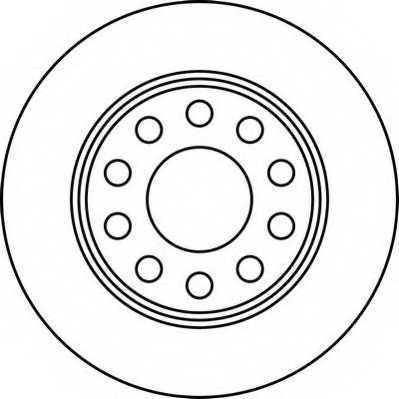 Тормозной диск JURID 562191JC - изображение