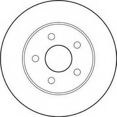 Тормозной диск JURID 562193JC - изображение
