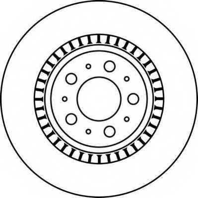 Тормозной диск JURID 562218JC - изображение