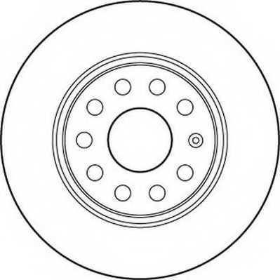 Тормозной диск JURID 562237JC - изображение