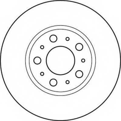 Тормозной диск JURID 562244JC - изображение