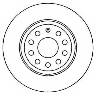 Тормозной диск JURID 562258JC - изображение