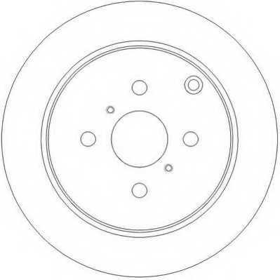 Тормозной диск JURID 562261JC - изображение