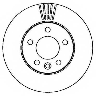 Тормозной диск JURID 562262JC - изображение