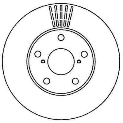 Тормозной диск JURID 562269JC - изображение