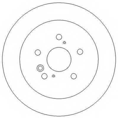 Тормозной диск JURID 562276JC - изображение