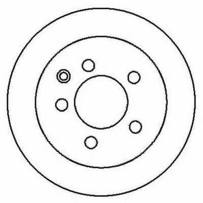 Тормозной диск JURID 562280JC - изображение