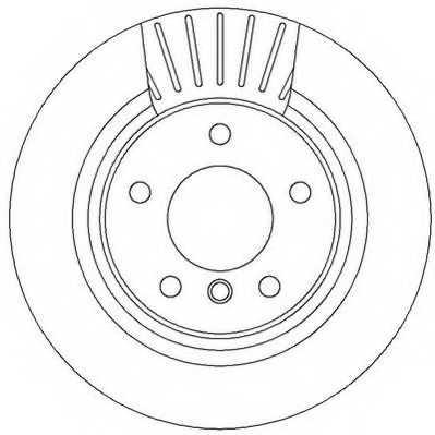 Тормозной диск JURID 562316JC - изображение