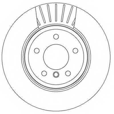 Тормозной диск JURID 562319JC - изображение