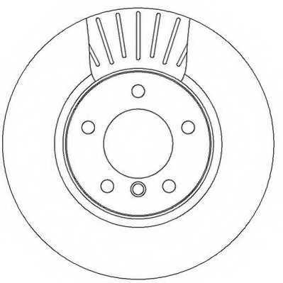 Тормозной диск JURID 562320JC - изображение