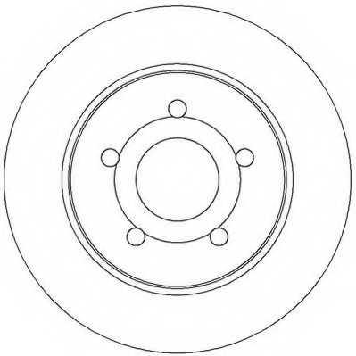 Тормозной диск JURID 562361JC - изображение