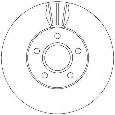 Тормозной диск JURID 562364JC - изображение