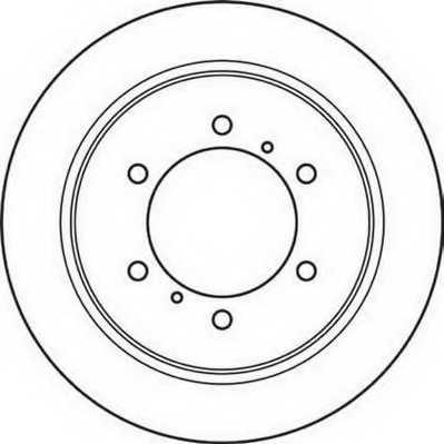 Тормозной диск JURID 562380JC - изображение