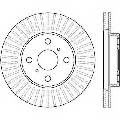Тормозной диск JURID 562409JC - изображение