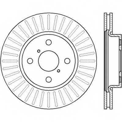 Тормозной диск JURID 562421JC - изображение