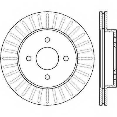 Тормозной диск JURID 562424JC - изображение