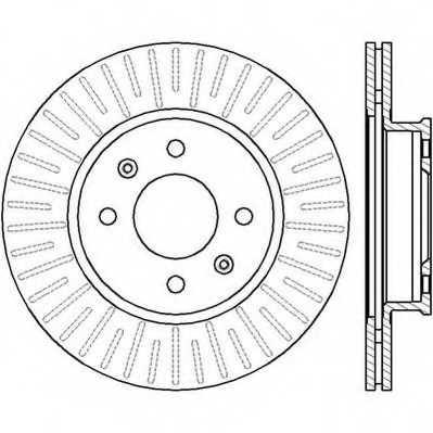 Тормозной диск JURID 562427JC - изображение