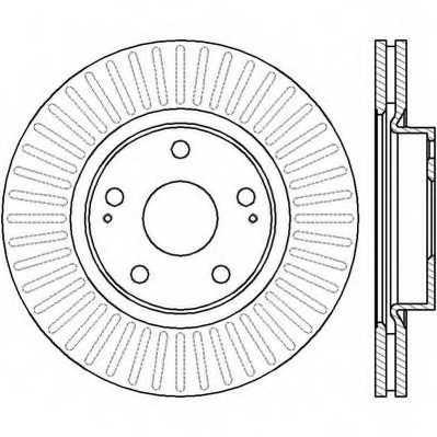 Тормозной диск JURID 562430JC - изображение