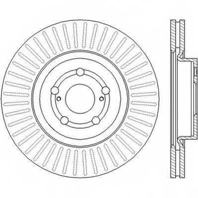 Тормозной диск JURID 562439JC - изображение