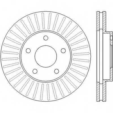 Тормозной диск JURID 562441JC - изображение