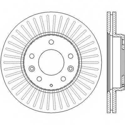 Тормозной диск JURID 562449JC - изображение
