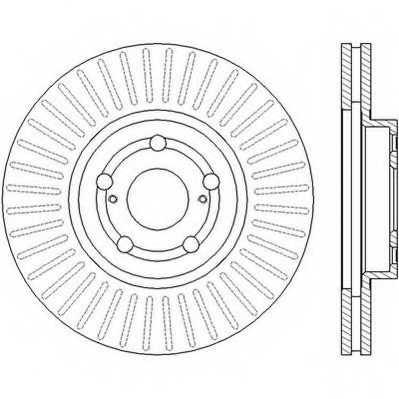 Тормозной диск JURID 562453JC - изображение