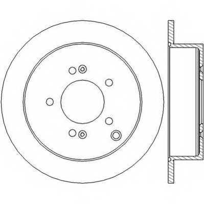 Тормозной диск JURID 562454JC - изображение