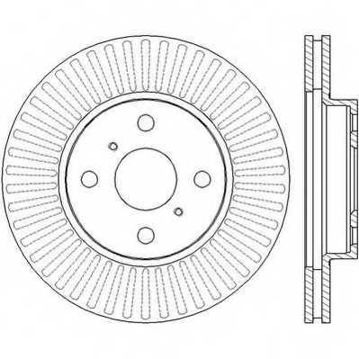 Тормозной диск JURID 562455JC - изображение
