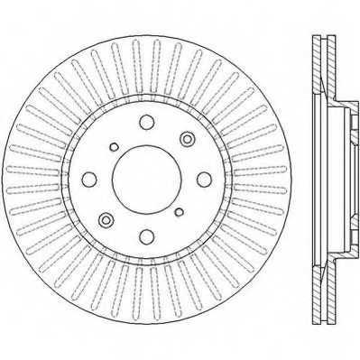Тормозной диск JURID 562456JC - изображение