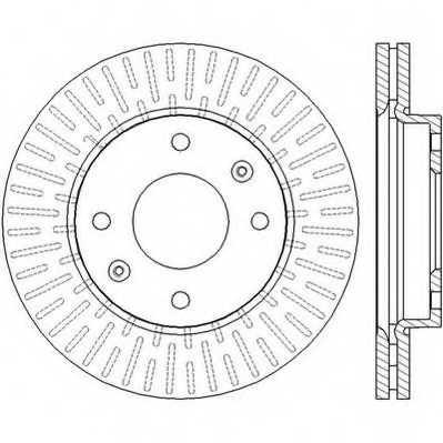 Тормозной диск JURID 562459JC - изображение