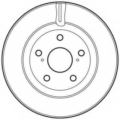 Тормозной диск JURID 562621JC - изображение